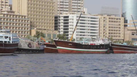 Dubai Creek From Boat 0084 Stock Video Footage