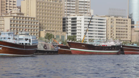 Dubai Creek From Boat 0084 Footage