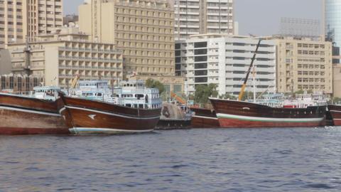 Dubai Creek From Boat 0084 Stock Video Footage