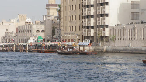 Dubai Creek From Boat 0002 stock footage