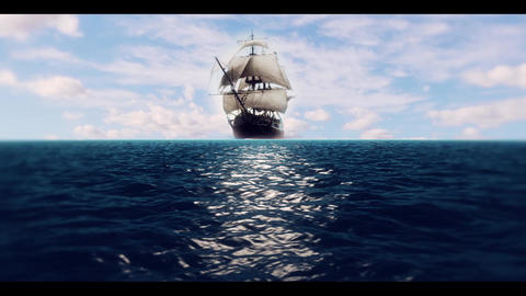Ship on Water Animation