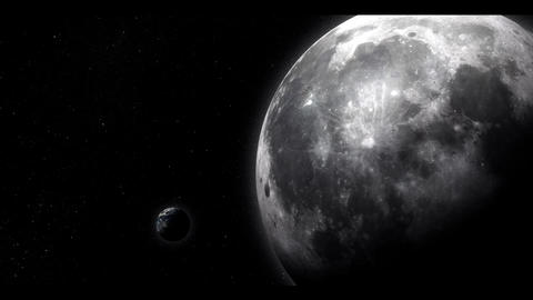 The Moon and Earth Stock Video Footage