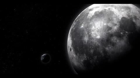 The Moon and Earth Animation