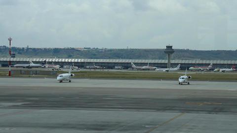 Airport 03 Madrid Barajas Stock Video Footage