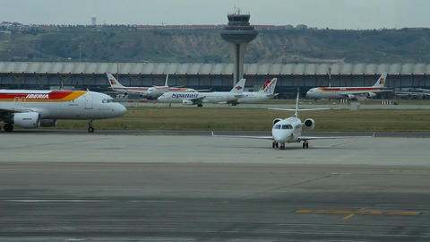 Airport 05 Madrid Barajas Stock Video Footage
