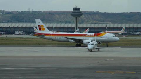 Airport 05 Madrid Barajas Stock Video Footage