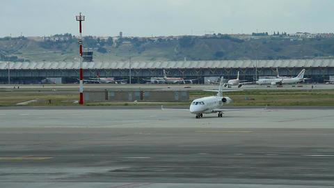 Airport 09 Madrid Barajas Stock Video Footage