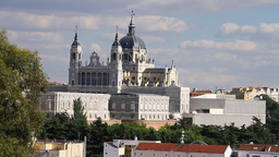 Catedral De La Almudena Madrid Stock Video Footage