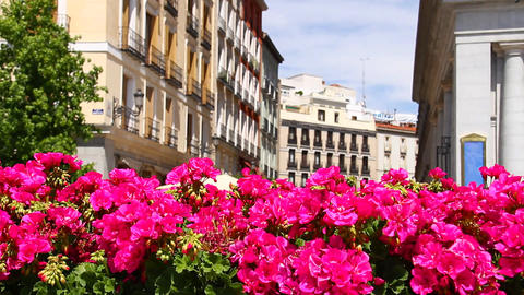 Mediterranean European City Scene 01 Stock Video Footage