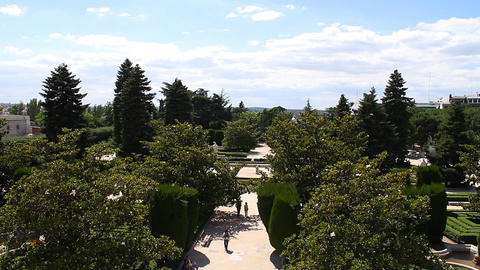Jardines De Sabatini 07 Madrid Stock Video Footage