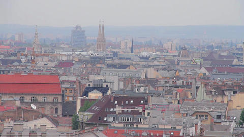 European Rooftops 02 Stock Video Footage