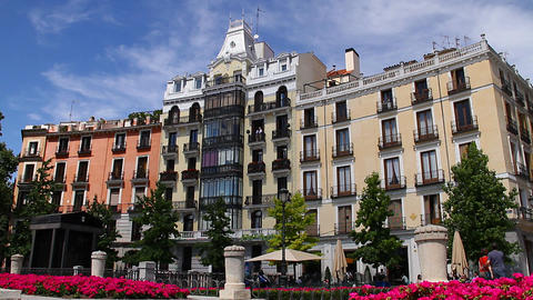 European Square 02 Madrid Footage