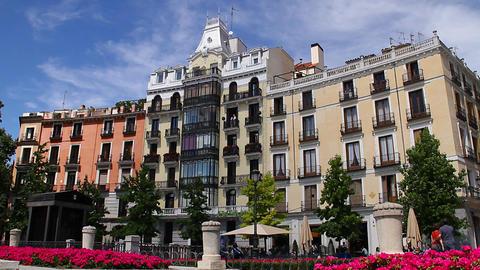European Square 02 Madrid Footage