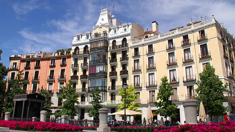 European Square 02 Madrid Stock Video Footage