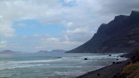 mirador del rio mountain la graciosa island Footage