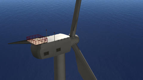 Wind Turbine Flight Into Animation