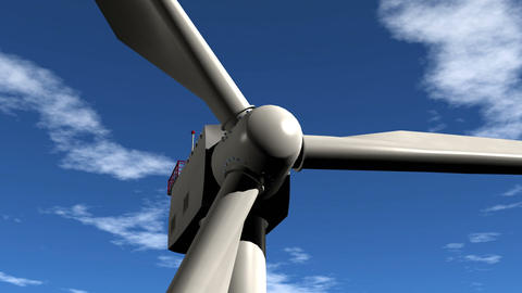 Wind Turbine Flight Into Stock Video Footage