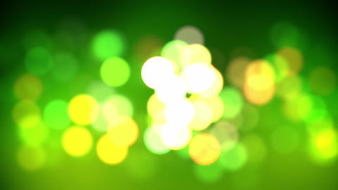 green bokeh loop Animation