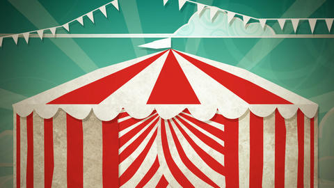 Circus Tent Entrance HD Stock Video Footage