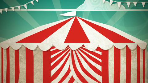 Circus Tent Entrance HD Animation