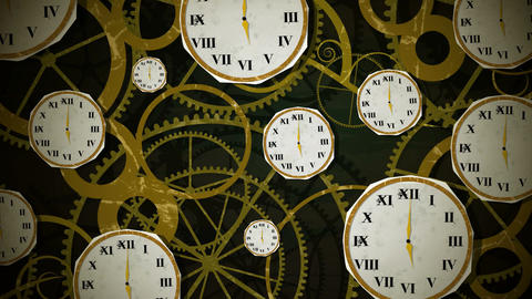 Clocks On Clockwork Loop HD Stock Video Footage