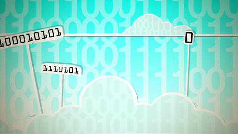 Cloud Computing HD CG動画素材