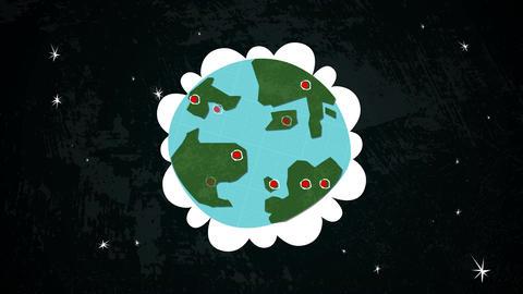 Earth In Space Locations Loop HD Stock Video Footage