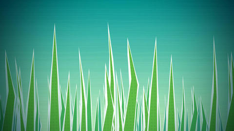 Grass Illustrated Loop HD CG動画素材