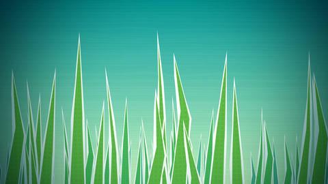 Grass Illustrated Loop HD Stock Video Footage