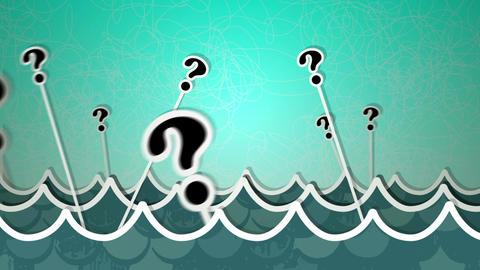 Sea Of Questions Loop HD Stock Video Footage