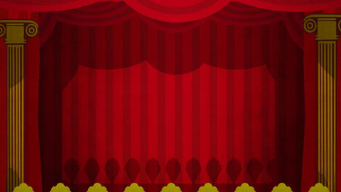 Theatre Curtains Green Screen HD Stock Video Footage