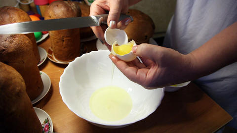Easter cooking Stock Video Footage