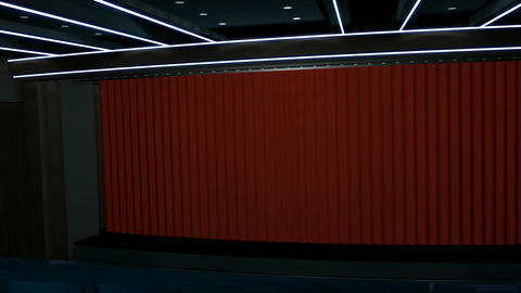 Cinema Entrance Greenscreen HD Stock Video Footage