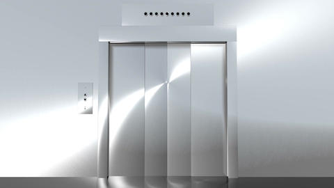 Modern Elevator to Green HD Stock Video Footage