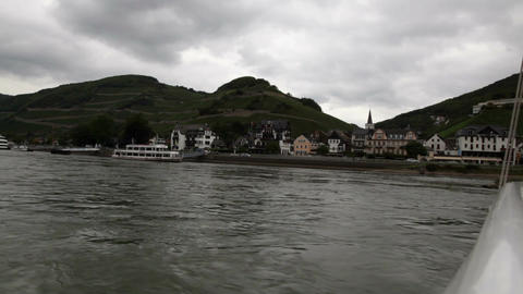 Traveling by cruise ship on a Rhine river 4 Footage