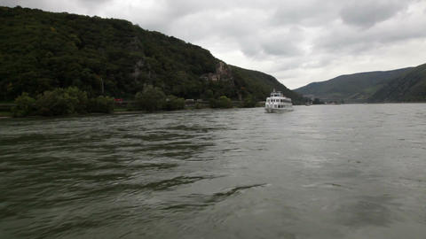 Traveling by cruise ship on a Rhine river 6 Footage