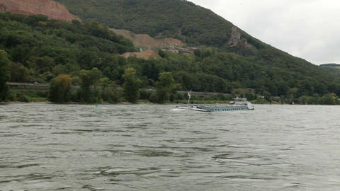 Traveling by cruise ship on a Rhine river 8 Footage