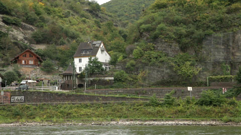 Traveling by cruise ship on a Rhine river 20 Footage