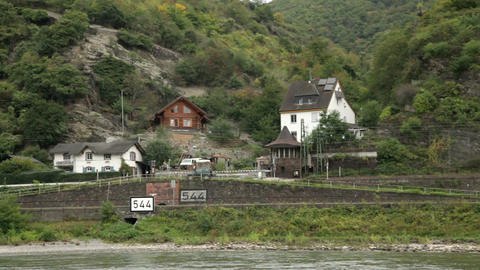Traveling by cruise ship on a Rhine river 20 Stock Video Footage