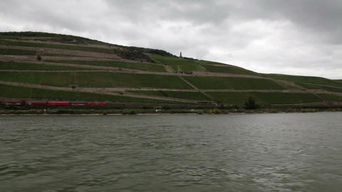 Traveling by cruise ship on a Rhine river 14 Footage
