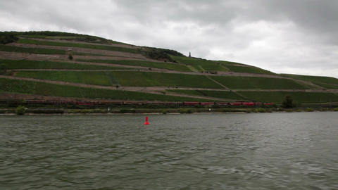 Traveling by cruise ship on a Rhine river 14 Stock Video Footage