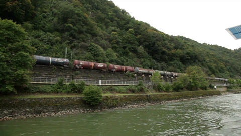 Traveling by cruise ship on a Rhine river 22 Stock Video Footage