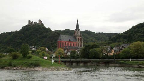 Castle near the Rhine river 2 Footage