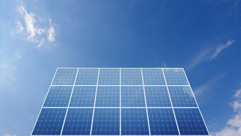 Solar Panel C1C HD Stock Video Footage
