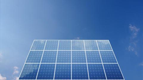 Solar Panel C1C HD Stock Video Footage