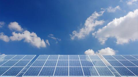 Solar Panel H1C HD Stock Video Footage