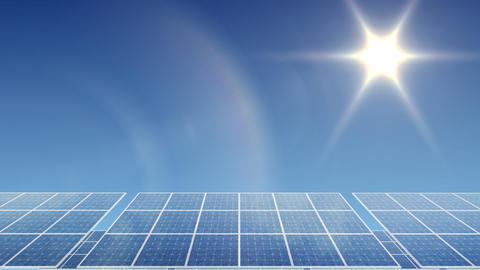 Solar Panel H1L HD Stock Video Footage