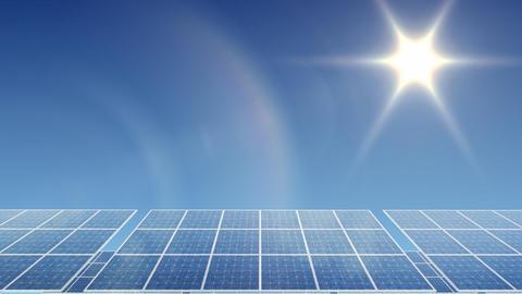 Solar Panel H1L HD Stock Video Footage