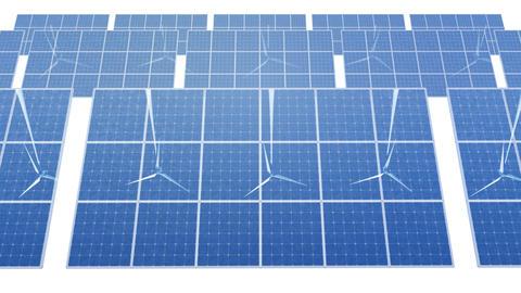 Solar Panel Wind Turbine D1W HD Animation