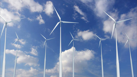 Wind Turbine A1CW HD Stock Video Footage